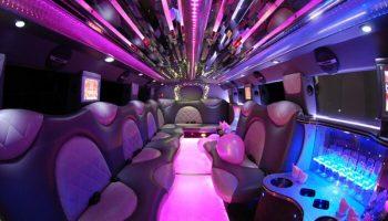 Cadillac Escalade Miramar limo interior