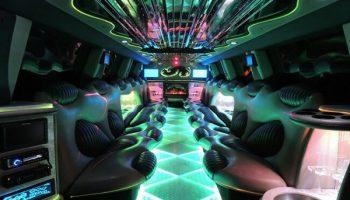 Hummer limo Doral interior