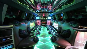 Hummer limo Key West interior