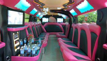 pink hummer limousine Doral